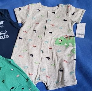 Carter's One Pieces - 4/$24 - 3 Carter's Rompers - 6 Months